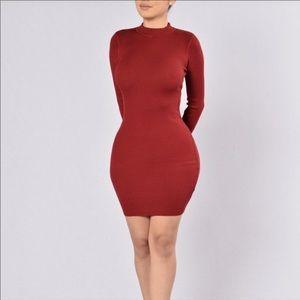 Ribbed open back dress